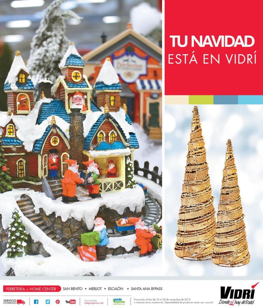 Tus adornos de NAvidad 2015 estan en VIDRI El Salvador