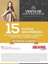 Venta de aniversario 2015 SEARS celebrando todos los dias con promociones