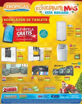 Almacenes tropigas promocion para esta navidad Regalazon de TABLETS - 07dic15
