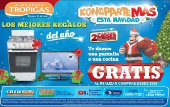 Almacenes tropigas quiere KONG partir muchas promociones en navidad