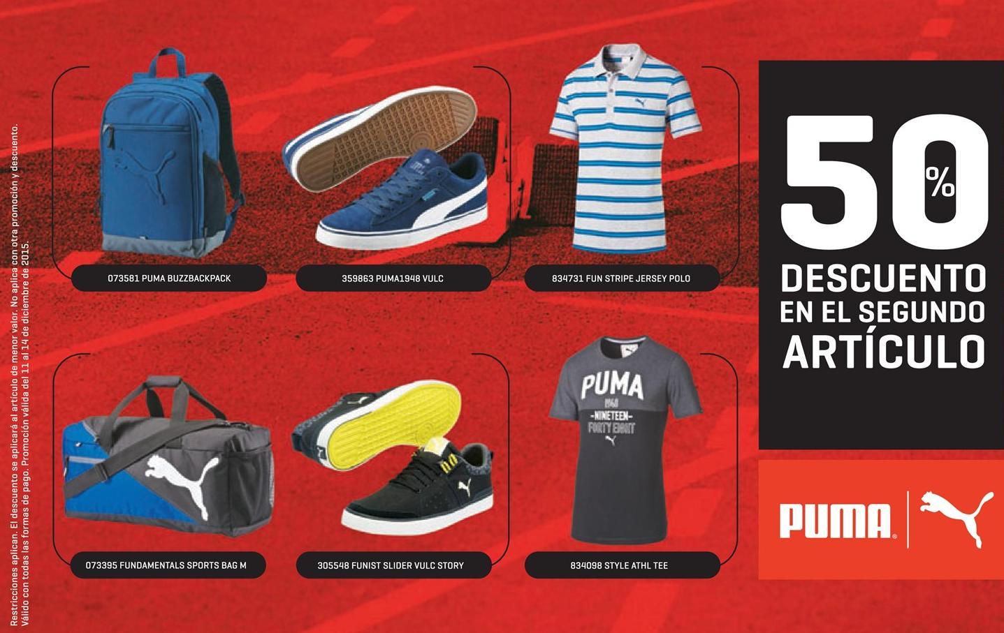 Articulos deportivos PUMA con 50 OFF en navidad 2015