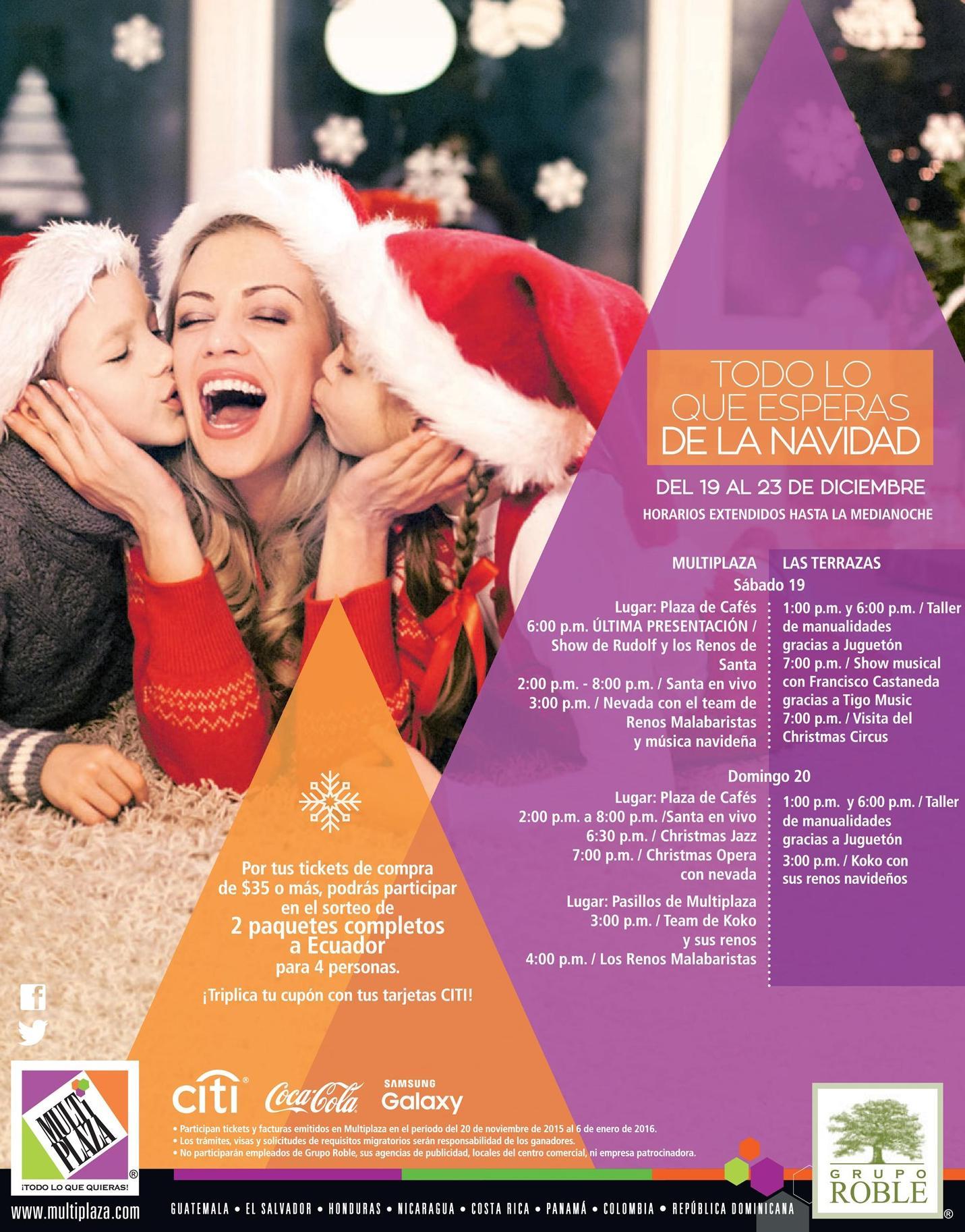 Christmas show at MULTIPLZA el salvador