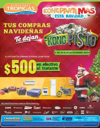 Compras de navidad con ahorro de pisto en almacenes tropigas