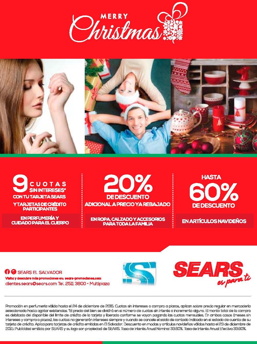 Descuentos SEARS el salvador for merry christmas 2015