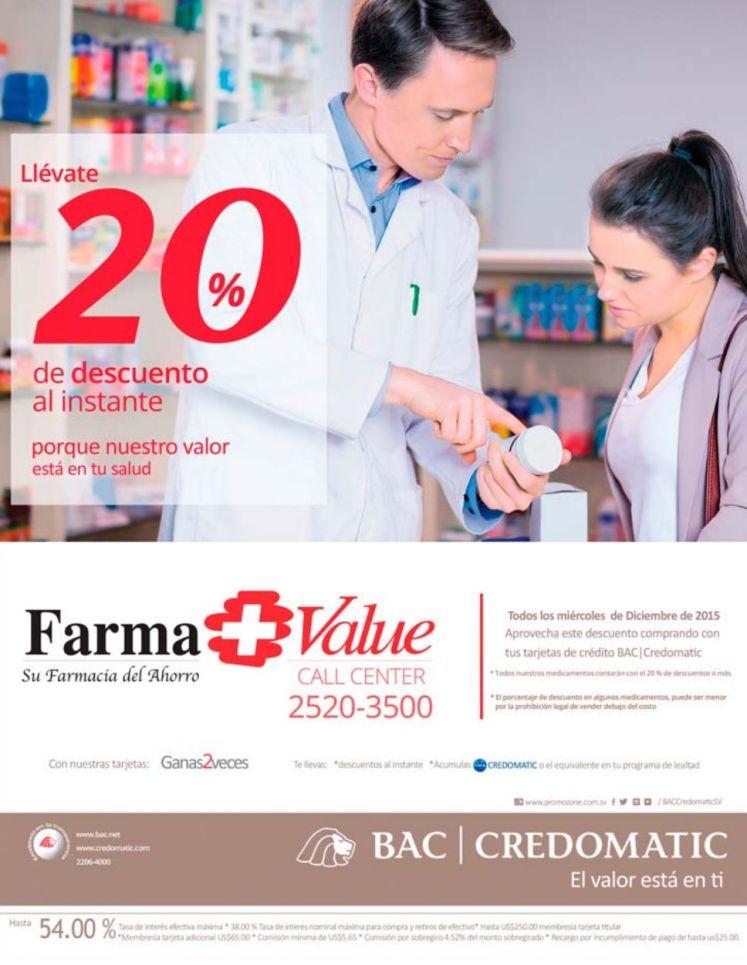 Farma VALUE es medicina con ahorro 20 off