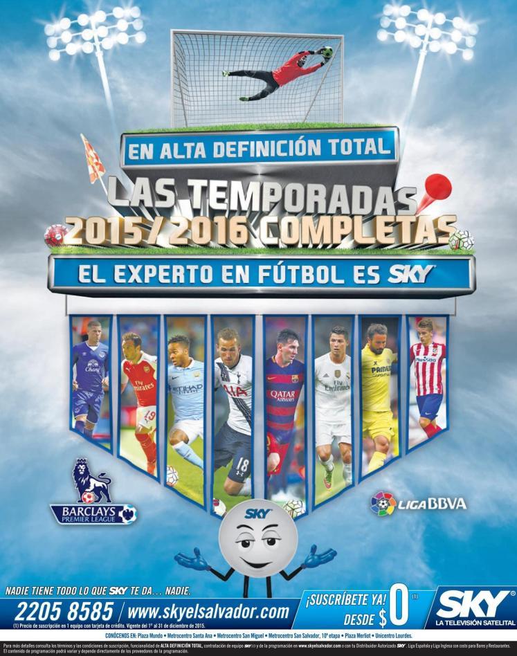 Futbol mundial y ligas en vivo y alta definicion via SKY satellital tv