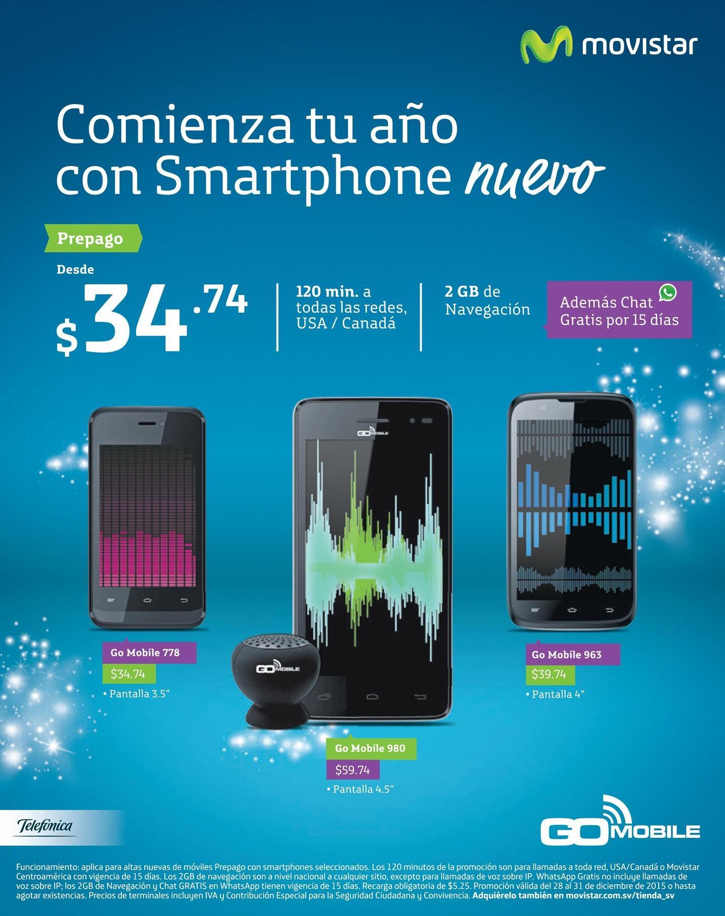 MOVISTAR Comieza el año 2016 con smartphone nuevo