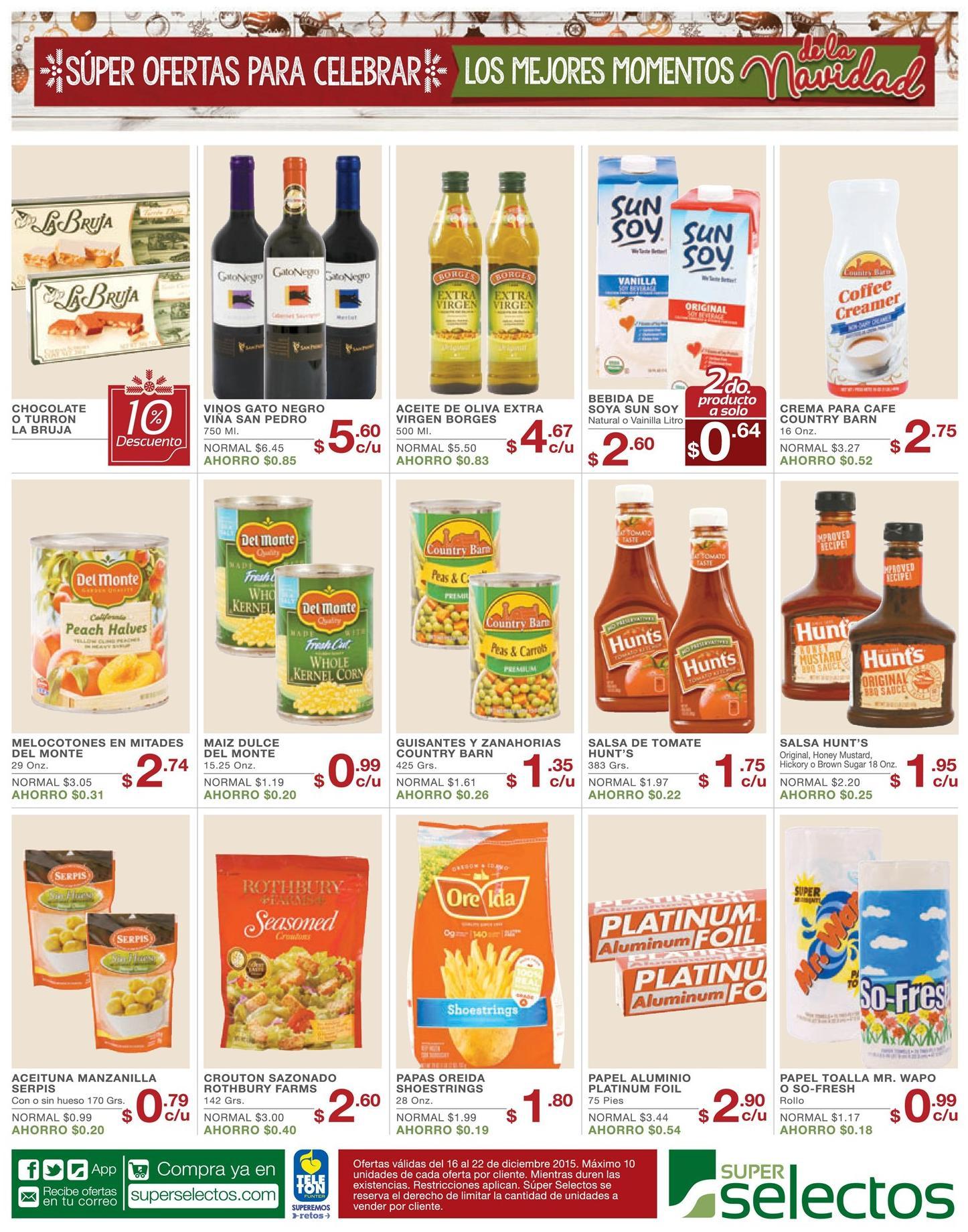 Productos en oferta para celebrar en diciembre