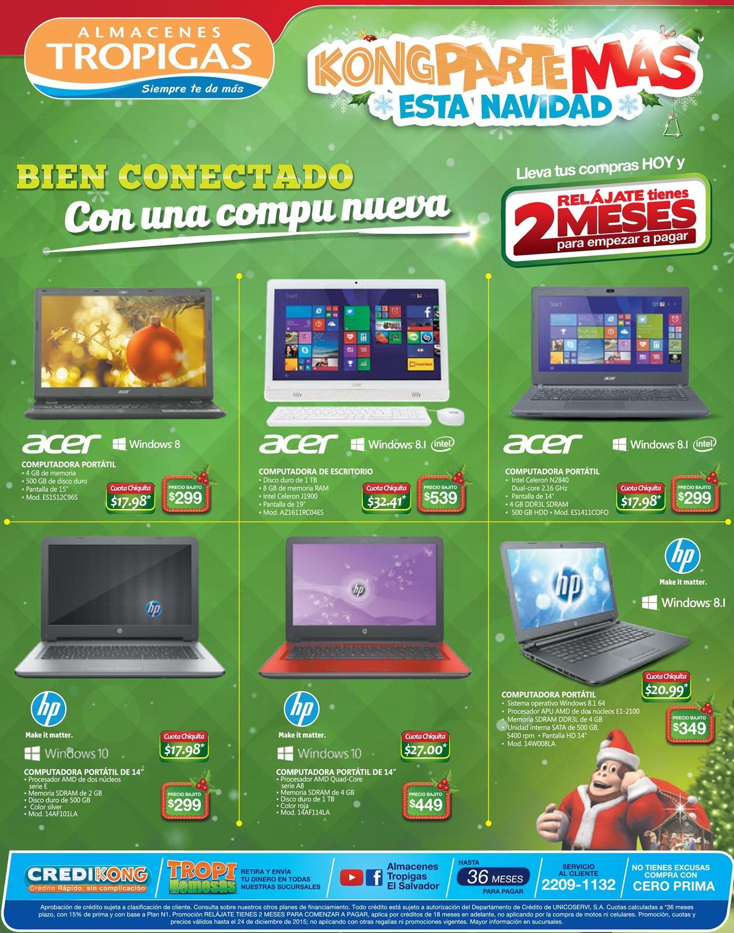 Promcoiones y ofertas en laptop en almacenes tropigas - 15dic15