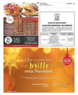 Promocion de Banquetes de navidad 2015 LOS CEBOLLINES catering