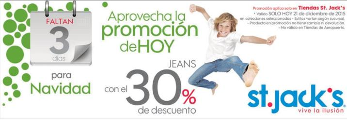 ST JACKS promotions Jenas for kids 30 off