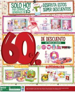 SUPER SELECTOS MAS descuento HOY 60 oFF en juguetes - 23dic15