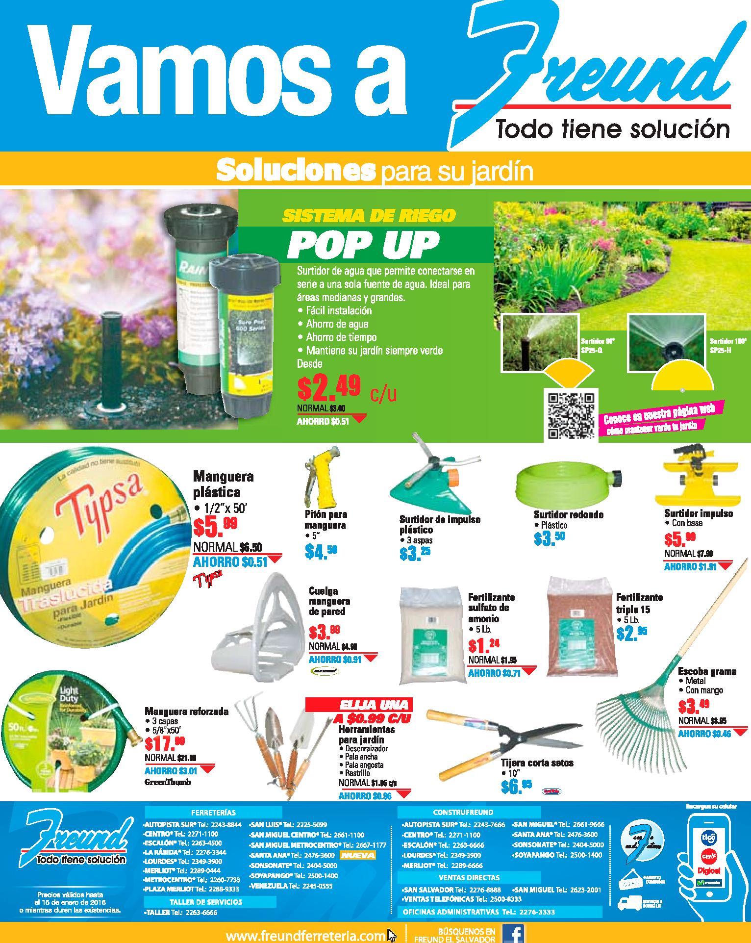 Sistema de riego POP UP disponible en freund jardineria