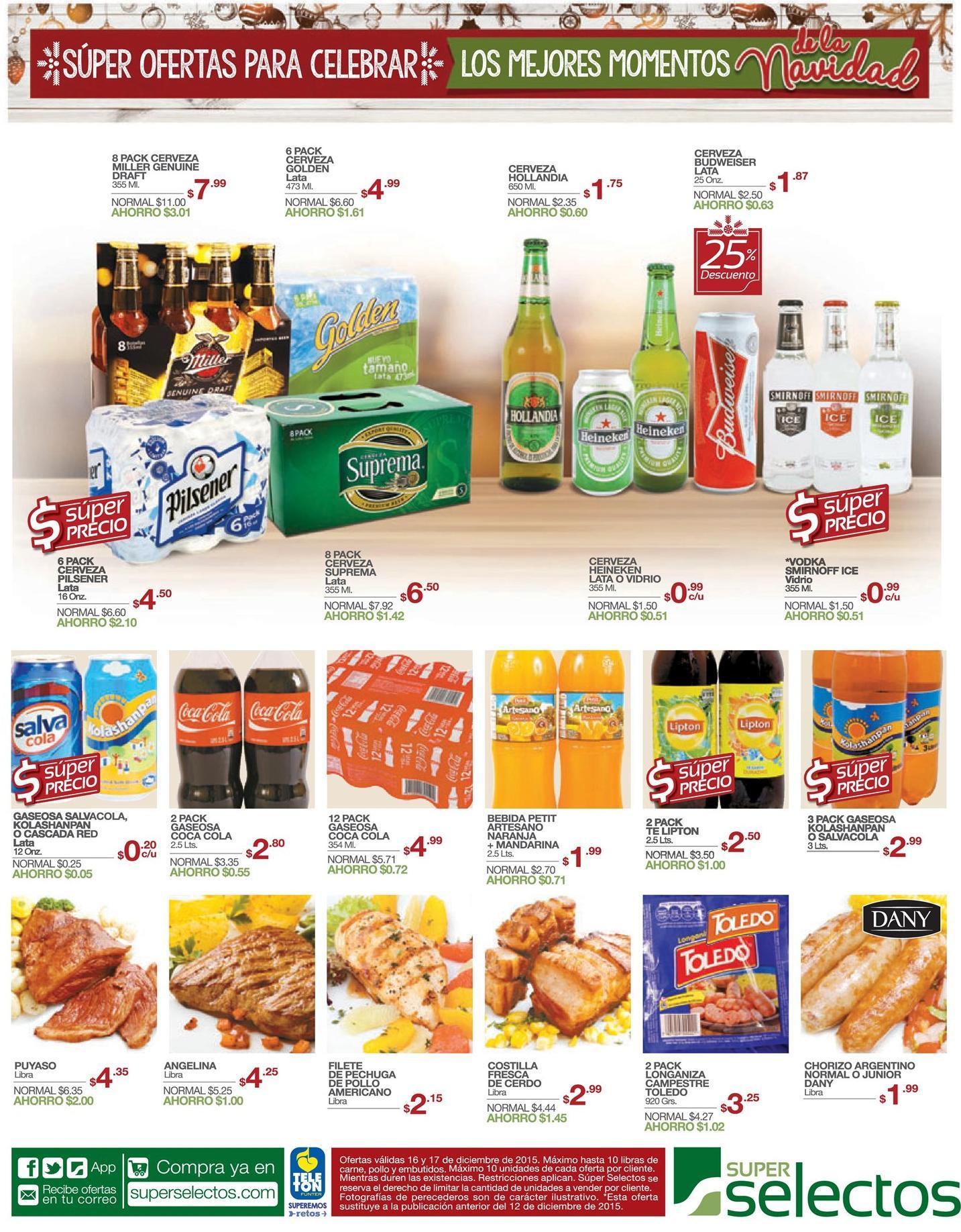Super selectos super precios en cervezas para navidad 2015