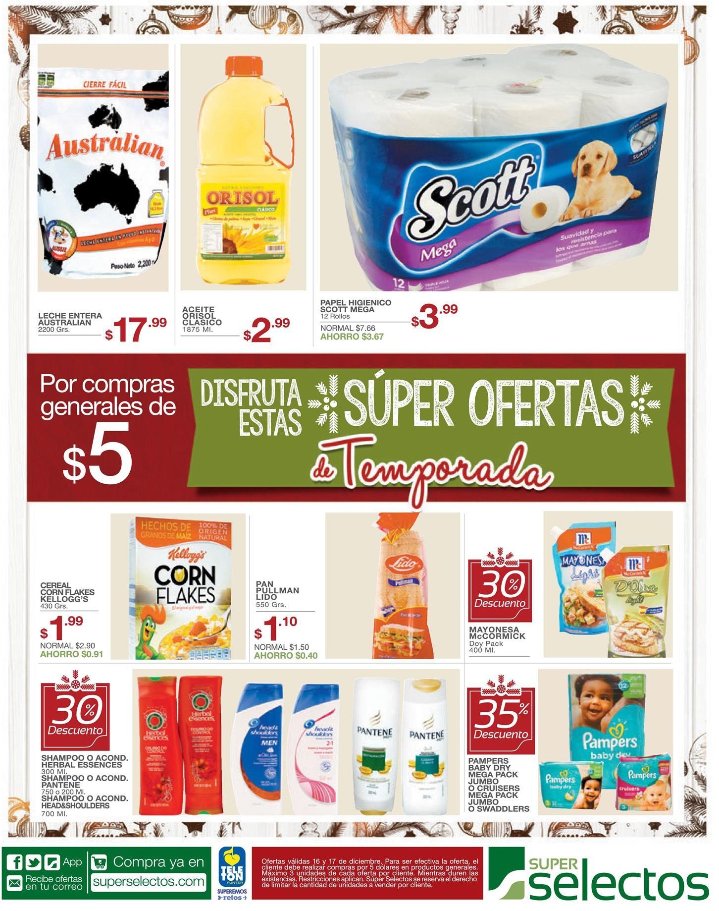 Supermercados conofertas de temporada APROVECHALAS en el selectos