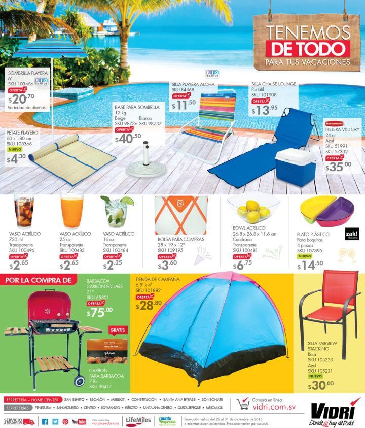 VIDRI productos para tus vacaciones de fin de ano 2015