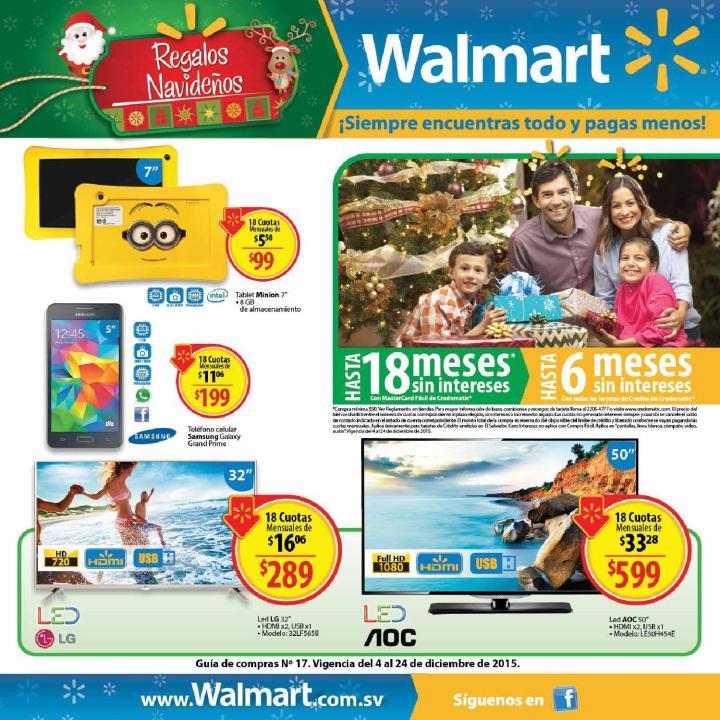 WALMART Guia de compras y ofertas navideñas 2015