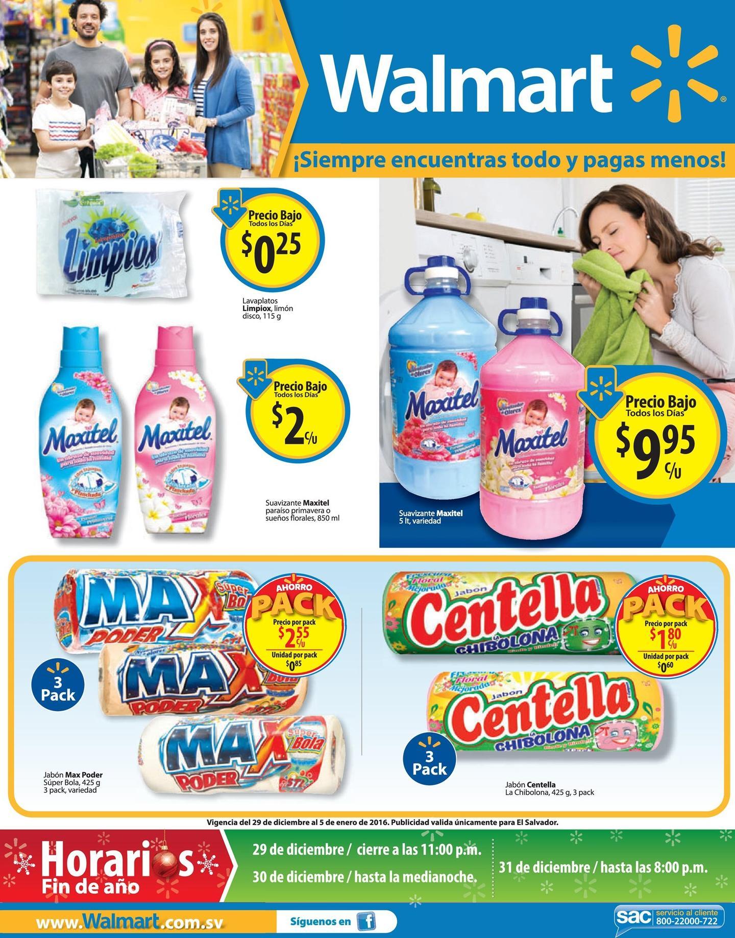 WALMART Horarios y ofertas de fin de año 2015