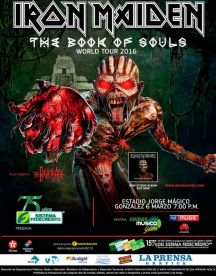 comprar entradas IRON MADEN el salvador 2016 THE BOOK of souls