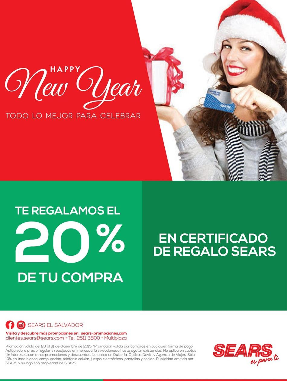 happy new year SeARS promotions