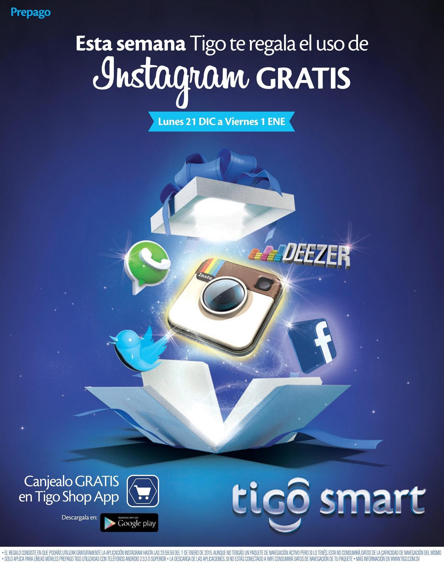 regalos TIGO navidad 2015 SEMANA instagram gratis