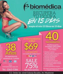 BIOMEIDCA spa y reduccion de peso en 15 dias acepta el reto