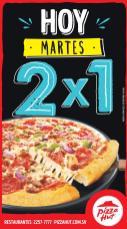 Hoy un buen dia para comer PIZZA HUT promocion 2x1