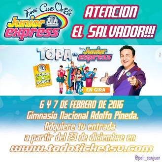Junior express en el salvador - Febrero 2016