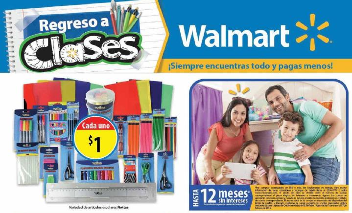 catalogo de ofertas WALMART back to school 2016