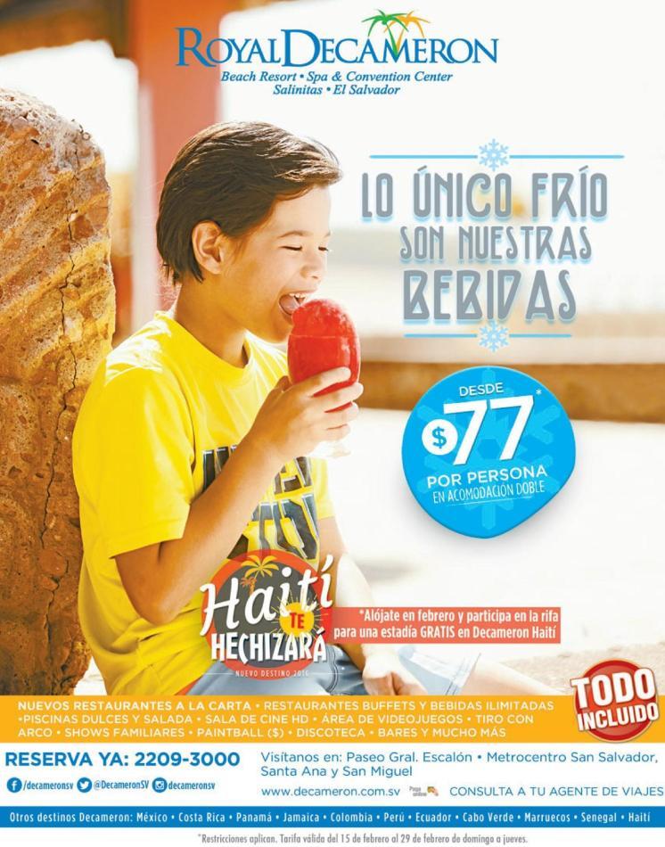 All inclusive promotions beach resort DECAMERON haiti