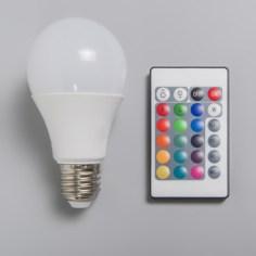 Bombilla LED RGB a control remoto