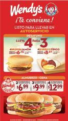 COMBOS wendys te convienen promociones desayunos almuerzos y cenas
