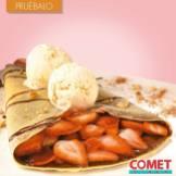 CREPA nutella y fresas mas helado COMET DINER desert