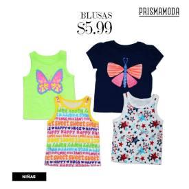 Colorida blusas para niñas en ofertas prisma moda Febrero 2016