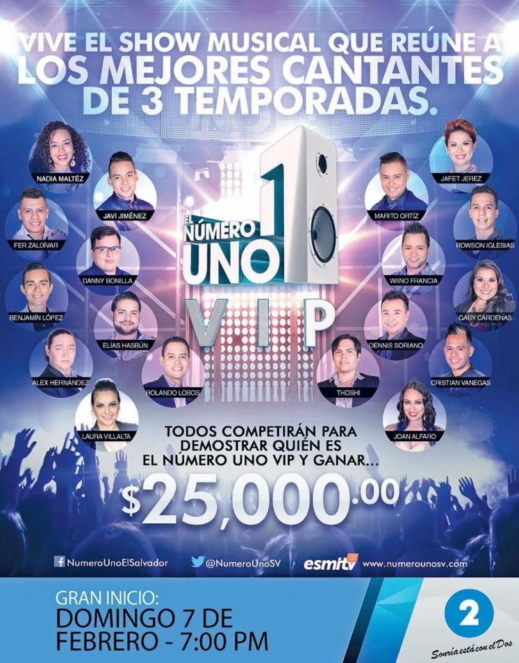 Las mejores voces del NUMERO UNO el salvador en la edicion VIP 2016