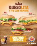 NUevas WHOPPER burger king con QUATTRO quesos
