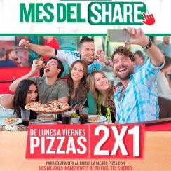 PAPA JOHNS promociones de FEBRERO 2016 Mes del SHARE
