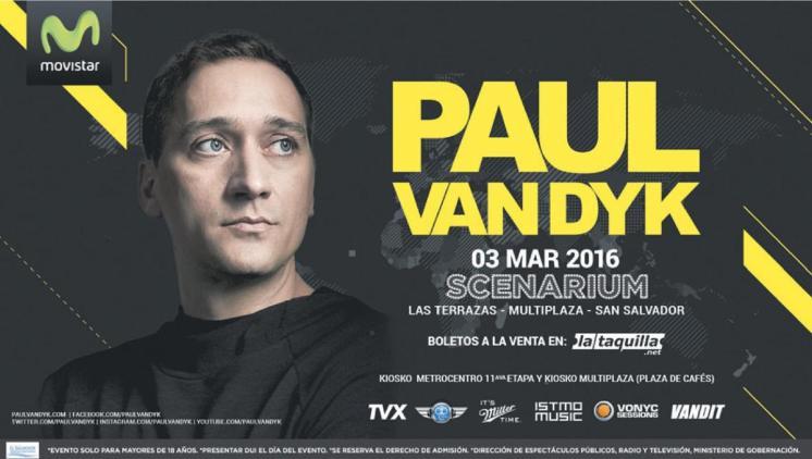 PAUL Van Dyk en el salvador 2016 SCENARIUM multiplaza