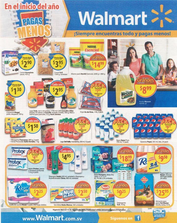 Precios bajos de supermercado en WALMART el salvador - 05feb16