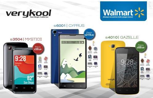 Precios bajos en WALMART en celulares marca verykool