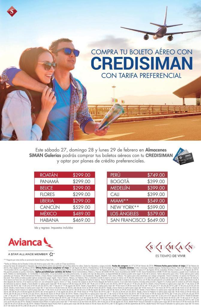 Precios preferenciales en tu boletos de vacaciones 2016 con CREDISIMAN
