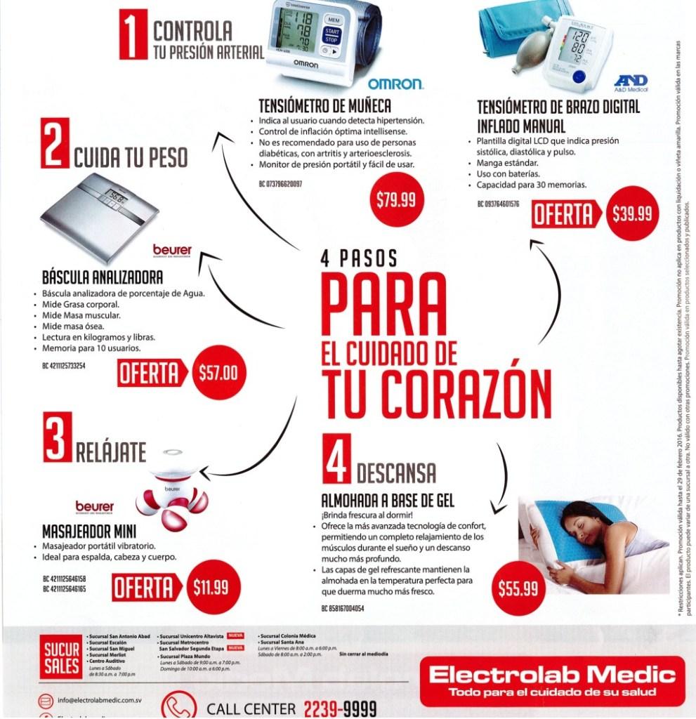 Productos medicos en promocion para el cuidado del corazon