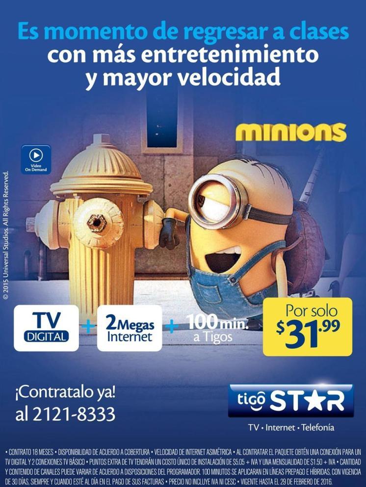 Promociones de febrero 2016 TIGO star service