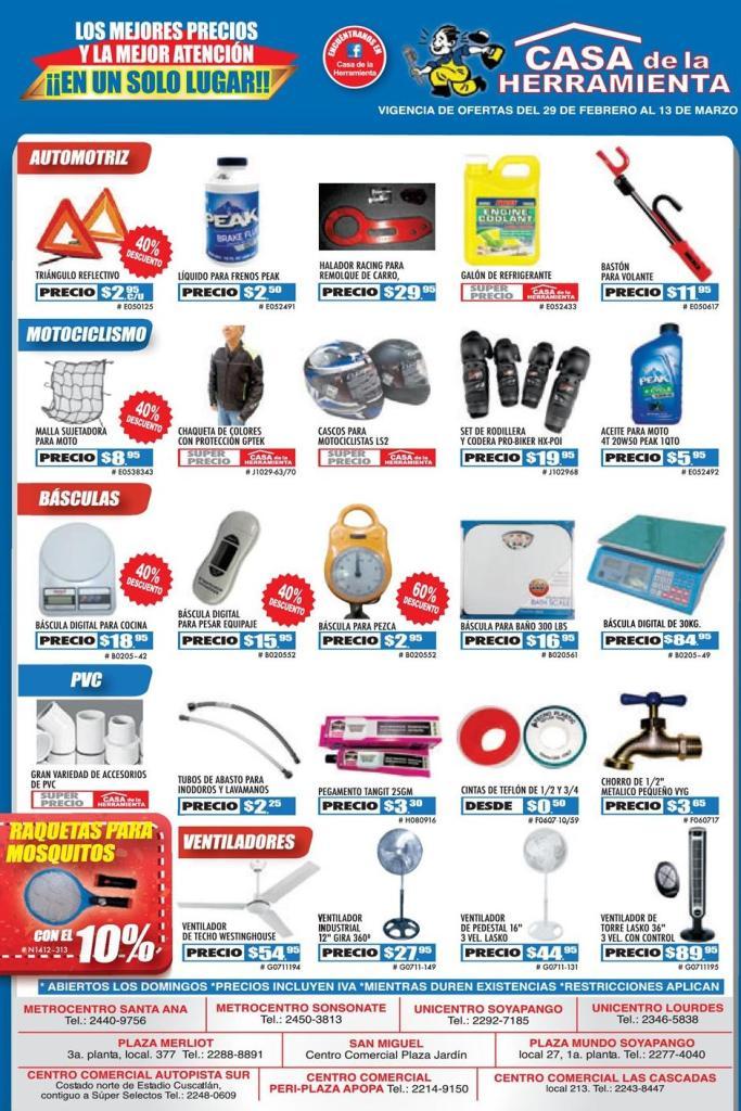 Que productos vende en la casa de la herramienta