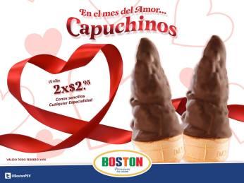 Riquisima promocion de CAPUCHINOS boston el salvador - Febrero 2016