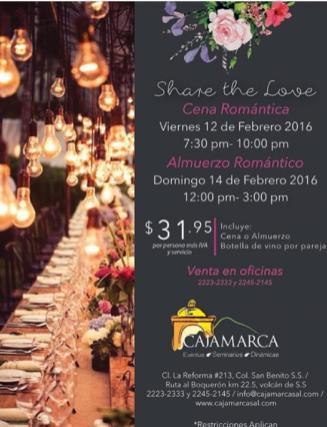 Share de love Romantic dinner for san valentine 2016