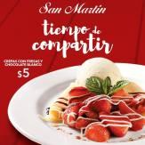 Tiempo para compartir en el mes del amor CREPAS con fresas y chocolate
