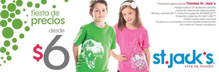 Tiendas ST JACKS Camisas de tus personajes favoritos desde 6 doalres