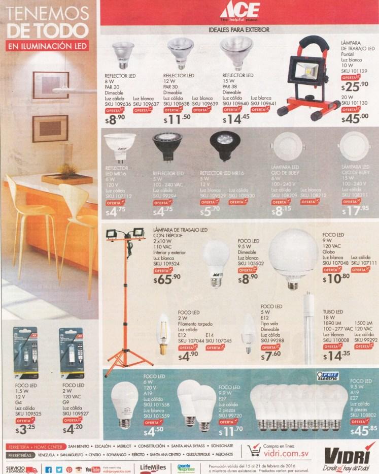VIDRI de todo el iluminacion LED y foco decorativos y ahorradores