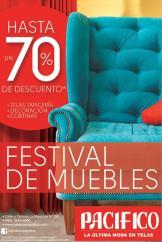 festival de muebles bien tapizados con PACIFICO